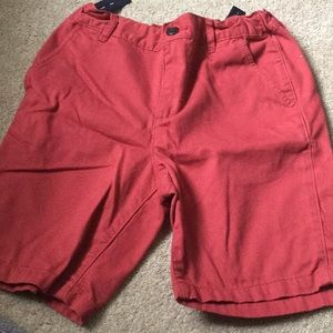 Children's place red flat front shorts. Size 8H